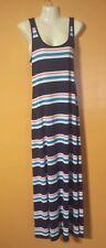 NWT Women's Large Long Maxi Dress Summer Beach Casual Striped Cute Fun Coverup