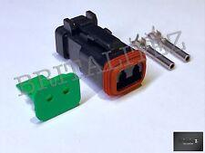 Deutsch DT Series 2 Way Plug Connector Kit DT06-2S Pins, Wedglock DT 062S CRIMP