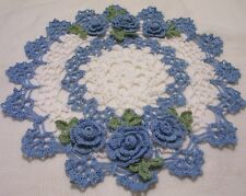 delf blue roses crocheted doily by Aeshagirl!!!!!