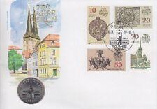 DDR Numisbrief 5 Mark 750 Jahre Berlin 1987 mit 5 Mark Nikolai Viertel