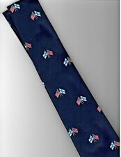 Neck Tie Finland USA Flags on blue background
