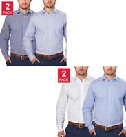 NEW Tommy Hilfiger Men's 2-Pack Regular Fit Dress Shirt - VARIETY