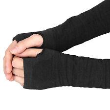 Winter Wrist Arm Hand Warmer Knitted Long Fingerless Elbow Womens Gloves Mittens