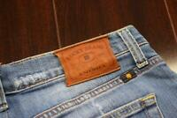 35113 Mens Lucky Brand Vintage 181 Relaxed Straight Blue Denim Jeans Sz 32 x 31