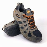 Columbia Redmond  Gray Leather Waterproof Hiking Shoes Mens Size 10.5 EUR 44.5