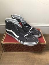 Vans Sk8 Hi Asphalt Grey White Uk Size 12  EU  47 Trainers Shoes