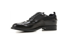 Prada Mens Black Leather Wingtip Lace Up Shoes Size 9