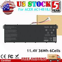 "For Acer Chromebook 11.6"" CB3-111-C4HT ES1-511 Battery 11.4V 36Wh AC14B18J"