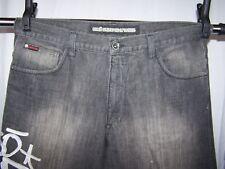 Ecko Unltd Mens Size 40 X 33 Dark Wash Denim Jeans Embroidered Metal Button