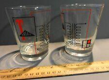 PAIR VINTAGE TRIAD ELECTRONICS DRINKING GLASSES COMPANY LOGO