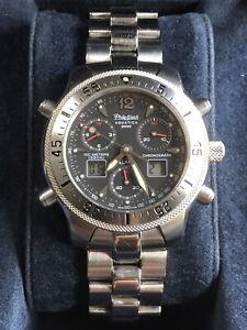 PHILIP WATCH Aquatica AQ2000 Men's Ana-Digi Chrono Quartz Watch WR100M Ø40MM