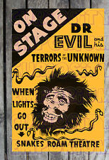 Dr. Evil On Stage And His Terrors Of The Unknown Spook Show Poster Reprint #16