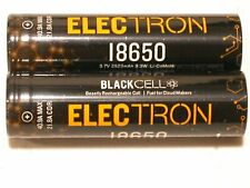 2 X 18650 BLACKCELL ELECTRON rechargeable battery  2523mAh 21.8a CDR 40.9a Max.