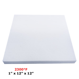 "1"" Refractory Ceramic Fiber Insulation Board 2300F 12"" x 12"""