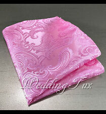 NEW PAISLEY Pocket Square Handkerchief Hankie Only 38 colors Party Prom Wedding