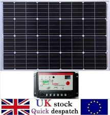 100w Mono Solar Panel /w 2m cable + 10A 12v / 24v PWM Battery Charger Controller