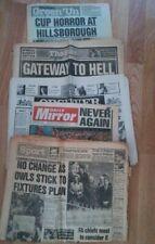 More details for hillsborough disaster 7 original newspapers.