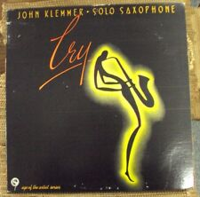 JOHN KLEMMER Cry: Solo Saxophone LP OOP late-70's free-jazz