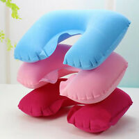 New Inflatable U Shaped Car Flight Travel Head Rest Air Cushion Neck Back Pillow