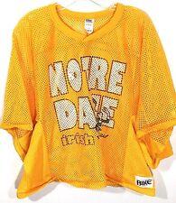 Notre Dame Fighting Irish Vintage Bike Mesh Crop Jersey Yellow Made USA Mens XL