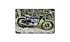Ajs 16M Motorbike Sign Metal Retro Aged Aluminium Bike