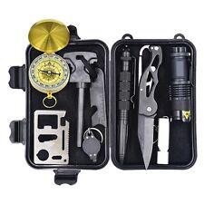 Hiking Camping Portable SOS Survival Gear Emergency Equipment Supplies Kit