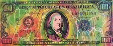 Old $100 Hundred Dollar Bill by Steve Kaufman SAK 19/50 CP 15x37 Painting