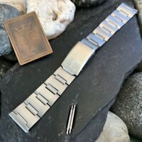 rare Favre Leuba Stainless Steel 19mm 1960s-1970s nos Vintage Watch Band