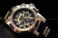 Invicta Men 51mm Speedway Rose Gold and Black Alien Faced Chrono Silicone Watch