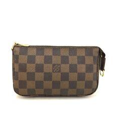 Authentic Louis Vuitton Damier Mini Pochette Accessories Bag Porch /e609