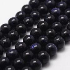 Strand 60+ Blue Goldstone Loose Beads 6mm Round