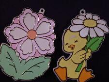 Hallmark 1980's Set/2 EASTER SPRING COOKIE CUTTERS Flower & Duck