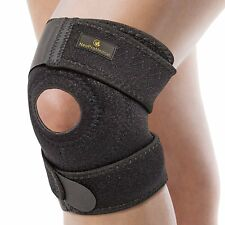 ❤ Sport Injury Knee Sleeve Protector Support Brace Neoprene M-L Adjustable Size