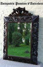 M20130908 - Grand miroir forêt noire en chêne massif daté 1900 au dos