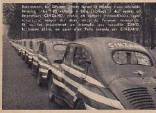 1952  --  RENAULT 4 CV  LES 160 VOITURES CINZANO   3A799