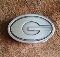 University of Georgia Logo Polished Silver Belt Buckle Fraternity GREAT GIFT
