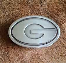 Green Bay Packers Logo Polished Silver Belt Buckle NFL