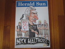 MARK KNIGHT COLLINGWOOD MICK MALTHOUSE McDONALDS COMMEMORATIVE 2011 AFL POSTER