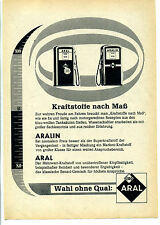 Aral Kraftstoffe nach Maß--Aral--Werbung von 1959--Wahl ohne Qual-
