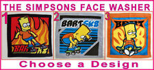 THE SIMPSONS Awesome Velour FACE CLOTH WASHER Bart Simpson SK8 NEW Choose Design
