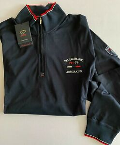 NEW Paul & Shark Yachting Man Uomo Jacket Pullover Lupetto BLUE NAVY Size XL