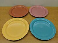 "Vintage NANCY CALHOUN Dinner Plates 10.5"" Lot of 4 Solid Colors"