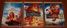3x DISNEY DVD Lot THE LION KING 1 - 2 - 3 English Greek Language REGION-2 New