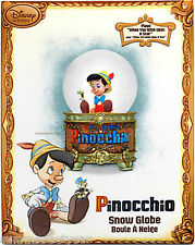 PINOCCHIO MUSICAL SNOW GLOBE (SNOWGLOBE) ~DISNEY STORE~ FREE PRIORITY SHIPPING