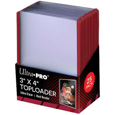 Ultra Pro Red Border Toploader - Trading Card Pokemon/MTG Hard Toploaders (25)