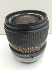 Canon FD 28mm f2 fast wide-angle lens with breech lock mount fitting