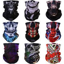 9pcs Skull Bandanas Motorcycle Biker Head Neck Tube Headband Face Scarf US Stock