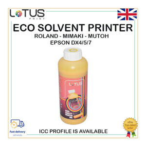 YELLOW Eco Solvent Ink For Roland,Mimaki,Mutoh,Epson DX4/5/7 Yellow