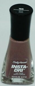 1 Sally Hansen Insta-Dri Fast Dry Nail Color Nail Polish SLICK SLATE #166