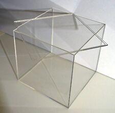 Tavolo VETRINA Cubo Acrilico Plexiglas box di vetro con coperchio pulita vetrina 10x10cm